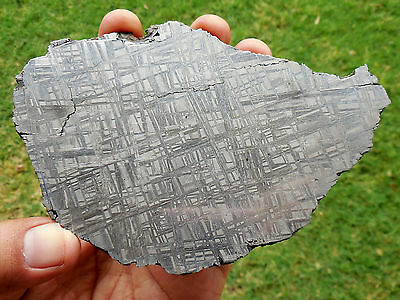 NICELY ETCHED 161.1 gram MUONIONALUSTA METEORITE slice - GREAT FOR JEWELRY!