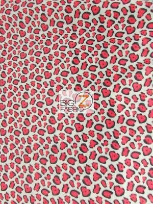 Animal Leopard Gray/red Fleece Printed Fabric Fh-243 By Yard Warm Baby Blanket