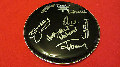 Hollywood Undead SIGNED BLACK REMO DRUMHEAD