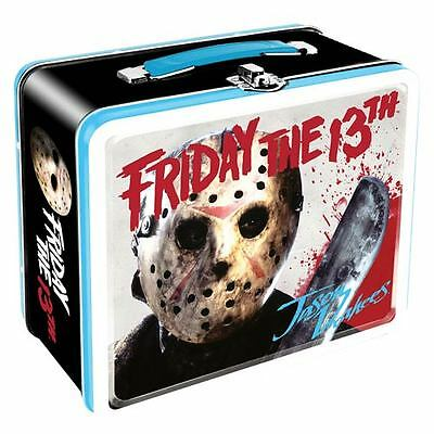 Friday the 13th JASON VOORHEES Metal Lunch Box Tin Tote Brand New