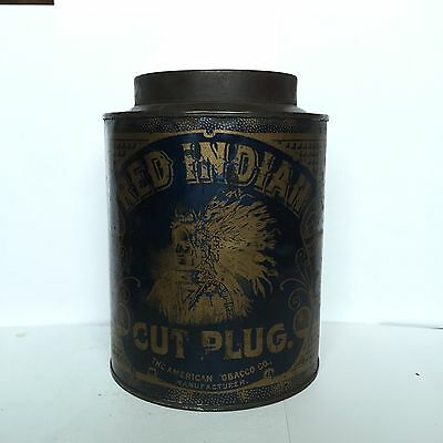 RED INDIAN  TOBACCO TIN ! Extremely HARD To Find !