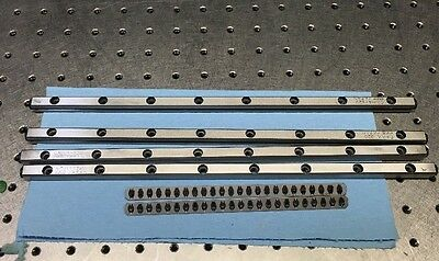 4 Rails , 2 Bearings , Single Axis Stage Set , IKO CRW4-320 Cross Roller Bearing