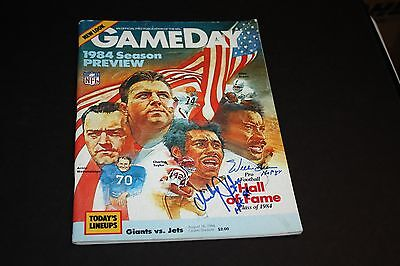 1984 Gameday Program Dual Signed/auto Willie Brown & Charley Taylor Hof 1984