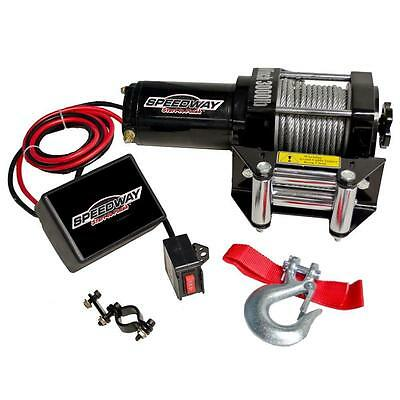 SPEEDWAY 3000 lb. 12-Volt Capacity Electric Wench Permanent Magnetic Motor