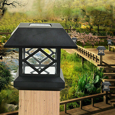 solar led zaunleuchten f r zaunpfosten solar au en solarlampen garten hof deko eur 15 15. Black Bedroom Furniture Sets. Home Design Ideas