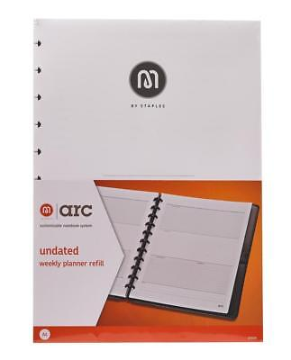 M By Staples ARC Weekly Undated Diary Planner Refill A4