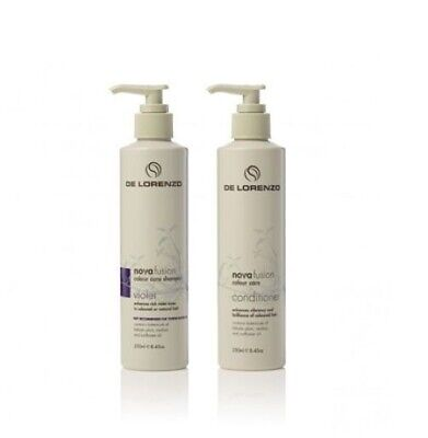 De Lorenzo Novafusion Violet Shampoo and Conditioner 250ml Duo Pack