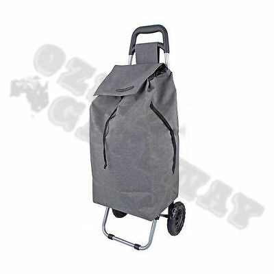D.line Shopping Cart Trolley Bag  Charcoal Grey  Rolling Wheel