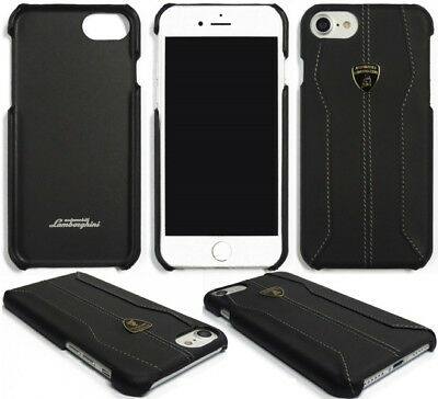 Lamborghini Huracan-D1 Black Leather Back Cover for iPhone 7 / 8 (4.7)