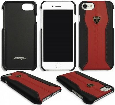 Lamborghini Huracan-D1 Red Leather Back Cover for iPhone 7 / 8 (4.7)