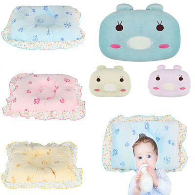 Baby Infant Newborn Pillow Anti Flat Head Cushion Pram Crib Cot Bed Soft Velvet