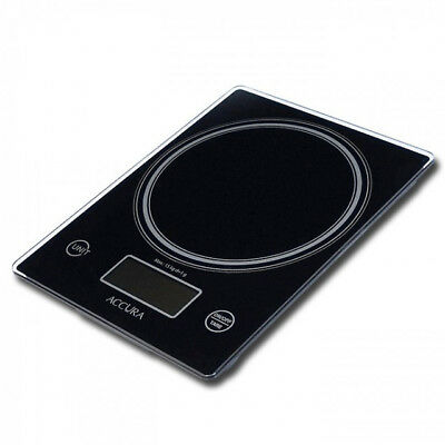 ACCURA Aquarius Pro Electronic Kitchen Weigh Scale Black 15kg/1g/1ml! RRP $59.99
