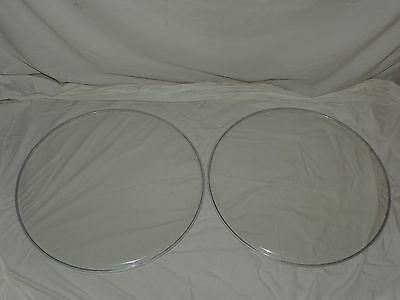 """NEW Pair 20"""" Clear  Bass Drum Heads Two Heads Included Cheap Price"""
