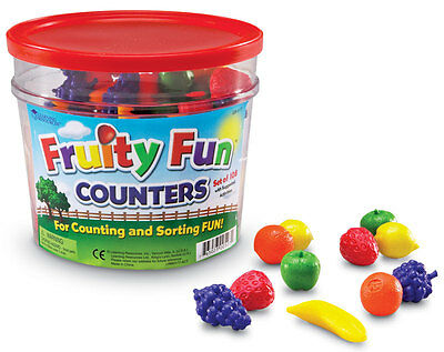 Learning Resources Fruity Fun Colourful Counters Set of 108 - NEW