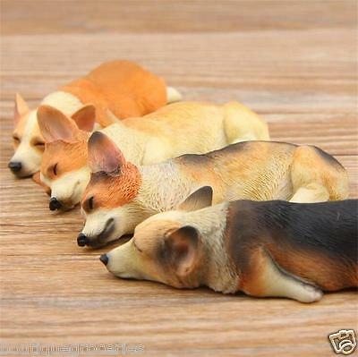 4pcs New Sleeping welsh corgi pembroke model action figure fridge magnets Gift