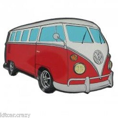 Official Volkswagen Campervan Fridge Magnet, Red Design Vw