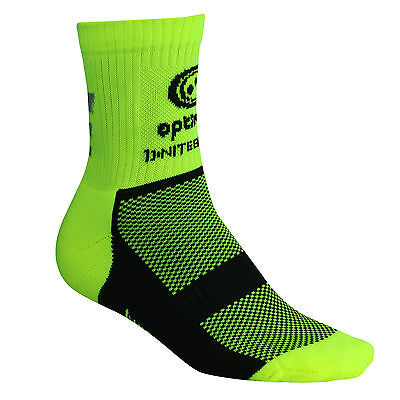 Optimum Nitebrite Cycling Socks Thermal Footwear Coolmax Fabric- Fluro Yellow