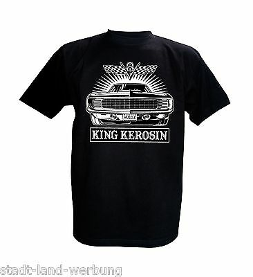 King Kerosin T-Shirt Fuck The World Oldschool Rockabilly Johnny Cash Motorrad V8