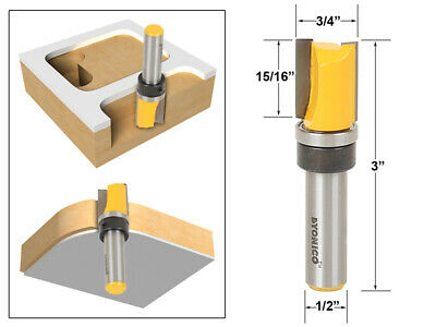 "3/4"" Diameter Flush Trim Template Router Bit - 1/2"" Shank - Yonico 14138"