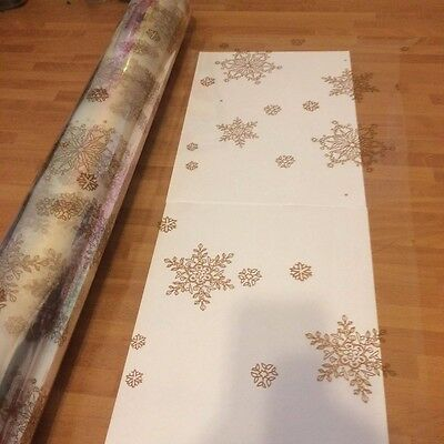 Gold Snowflake Christmas Cellophane Wrap Quality Item Wholesale Offer
