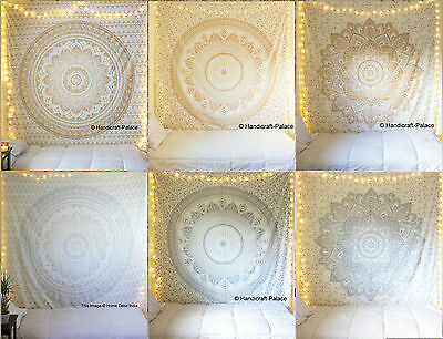 Indian Ombre Mandala Bedspread Hippie Tapestry Queen Wall Hanging Ethnic Throw