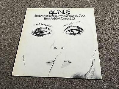 """Blondie - (I'm Always Touched By Your) Presence Dear - 1978 12"""" Single More Look"""