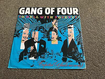 "Gang Of Four - To Hell With Poverty - 1981 12"" Single - Buy More & Combine Post"