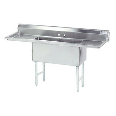 "Advance Tabco FC-2-2424-24RL 24"" Fabricated NSF Econom Sink"