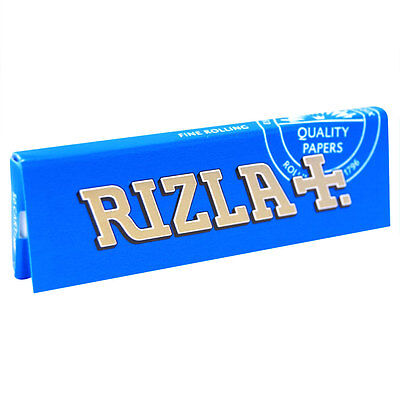 RIZLA Blue Rolling Papers 1-1/4 Regular Size X 3 PACKS