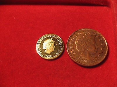 RARE 2012 QUEEN ELIZABETH II DIAMOND JUBILEE 1/4 GOLD SOVEREIGN 22ct GOLD