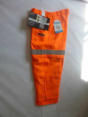 Hi-Vis work cargo pant All season Orange with 3M reflective material