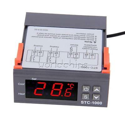 Hot Digital STC-1000 All-Purpose Temperature Controller Thermostat With Sensor