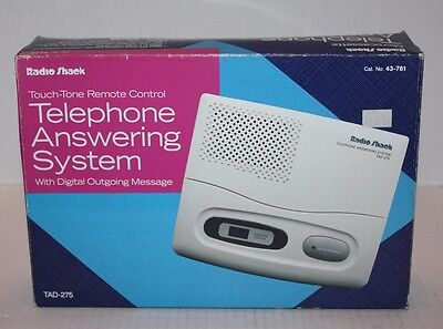 NOS RadioShack Touch-Tone Remote Control Telephone Answering System TAD-275