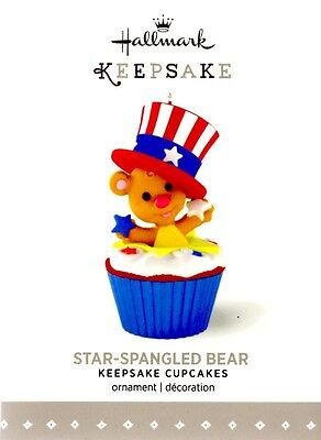 Star-Spangled Bear~#12 Keepsake Cupcakes~2015~Hallmark~Reg.$12.95~MIB