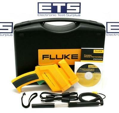 Fluke 576 Handheld Infrared IR Thermometer With Type K Thermocouple Probe