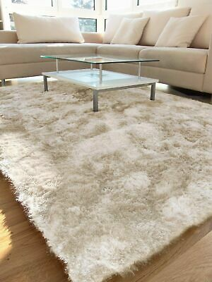 Whisper Shaggy Super Soft Rug LIGHT CREAM  S -M- Large Size NOW ON SALE
