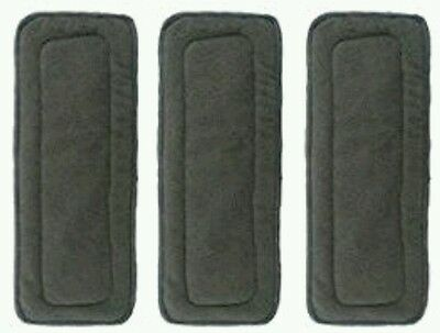 Baby 5 Layer Charcoal Bamboo Inserts Reusable Liners for Cloth Diapers 6 Pack