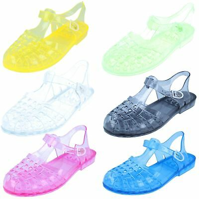 92e18cac9b4f LADIES F0714 90 S retro jelly buckle sandals by SPOT ON -  8.04 ...