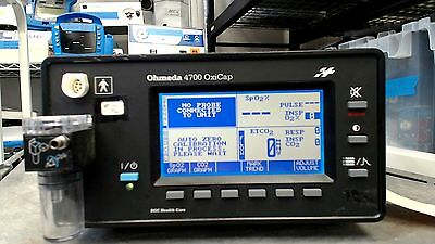 Ohmeda Oxicap 4700 Oxygen & Heart Rate Monitor with Instruments 100% Guaranteed