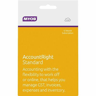 MYOB AccountRight Standard 1 PC 12 Months Card