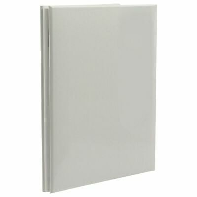 NCL 20 White Page Refillable Self-Adhesive Photo Album Grey