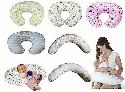 Baby Mum Breast Feeding Pillow Support 100% Cotton Cover Nursing Maternity Gift