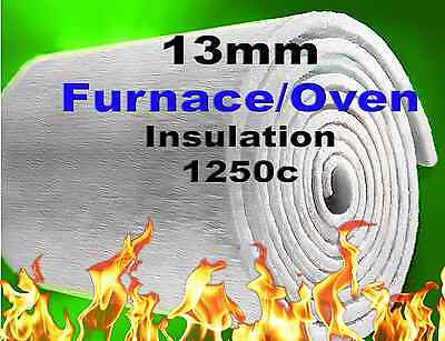THERMAL CERAMIC INSULATION FURNACE/PIZZA OVEN HIGH TEMPERATURE 13mm WOOL BLANKET