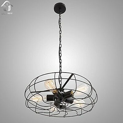 UNITARY BRAND Vintage Barn Metal Hanging Ceiling Chandelier Max. 200W With 5