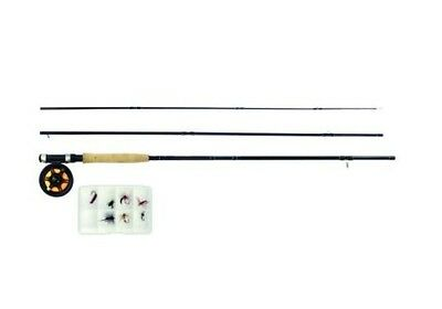 Quarrow Fine River Fly Fishing Kit Combo Rod Reel River Complete 3 Piece New