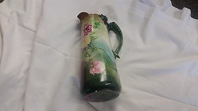 Willets Belleek Pitcher Vase 1890's Dragon Handle