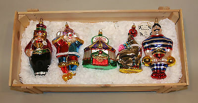 Polonaise Ornaments in Crate Circus 5 Ringmaster Tent Seal Strongman Clown GP545
