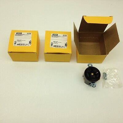 Hubbell HBL5258 Brown Receptacle 15A 125V 2-Pole 3-Wire Lot of 3
