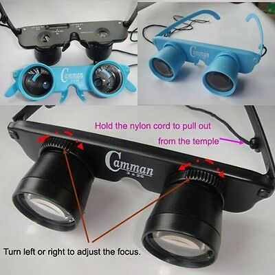 Magnifier Binoculars Portable Glasses Telescope For Fishing Hiking Concert View