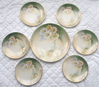 7 Piece Daisy Tillowitz Silesia RS Germany - Handled Dish/6 matching dishes 904